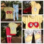 camisetas e legging meninas